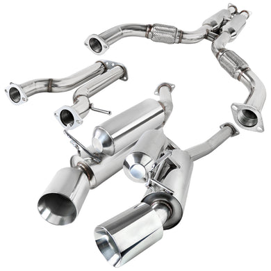 Spec-D Tuning Exhaust Nissan 370Z [Polished Tips] (09-17) MFCAT3-370Z09-MX