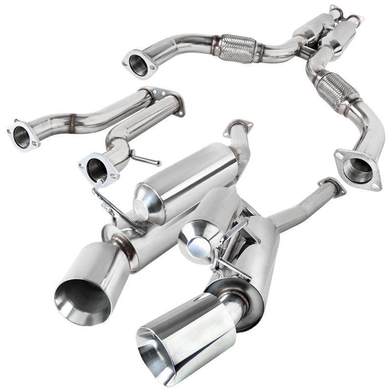 Spec-D Tuning Exhaust Nissan 370Z [Polished Tips] (09-19) Catback Exhaust