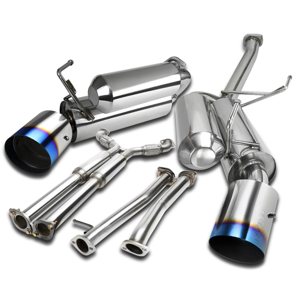 Spec-D Tuning Exhaust Infiniti G35 Coupe (03-07) Dual Muffler Polished or Blue Burnt Tips