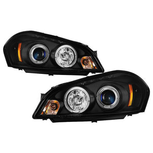 Spyder Projector Headlights Impala (06-13) Monte Carlo (06-07) Halo LED - Black / Chrome
