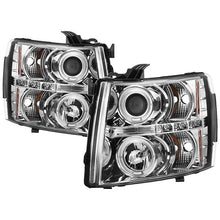 Load image into Gallery viewer, Spyder Projector Headlights Chevy Silverado 1500 / 2500HD / 3500HD [LED Halo] (07-13) Black/Black Smoke/Chrome/ Smoke