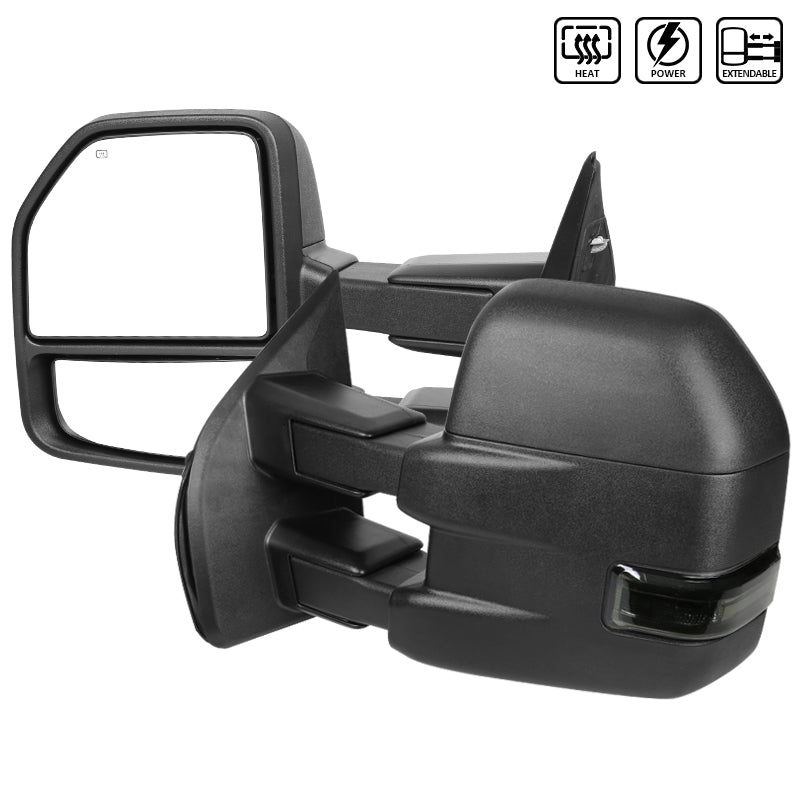Spec-D Towing Mirrors Ford F150 (2015-2019) Powered / Heated / LED Turn Signal