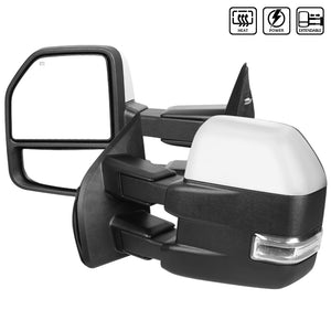 Spec-D Towing Mirrors Ford F150 (2015-2018) Powered / Heated / LED Turn Signal