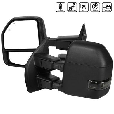 Spec-D Towing Mirrors Ford F250 (2017-2018-2019) Powered / Heated / LED Turn Signal