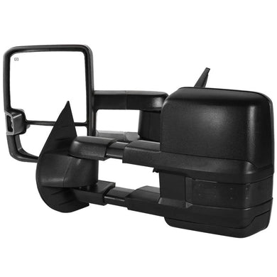 Spec-D Towing Mirrors Chevy Silverado (2007-2013) Powered Extended & Heated