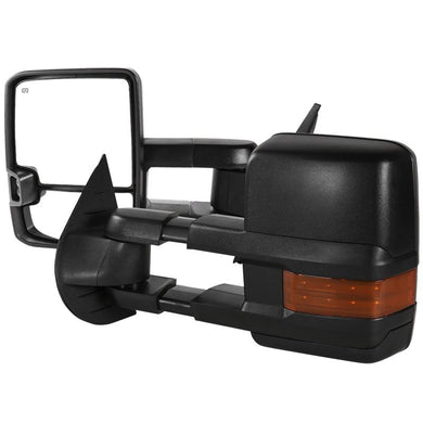 Spec-D Towing Mirrors Chevy Silverado (2007-2013) Heated & Extended w/ LED