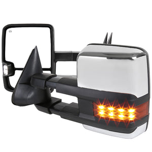 Spec-D Towing Mirrors Chevy Tahoe [Non ZR1] (00-02) LED / Powered / Heated