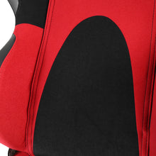Load image into Gallery viewer, Spec-D Racing Seats [Type 6 Style - Black/Red Suede/PVC) Pair