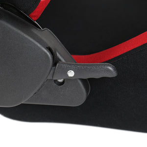 Spec-D Racing Seats [Type 6 Style - Black/Red Suede/PVC) Pair