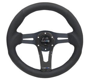 NRG Steering Wheels (320mm Leather w/ Carbon) RST-002RCF