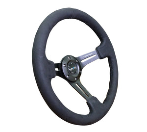 NRG Steering Wheels (Alcantara - Black Stitch - 350mm) RST-018SA