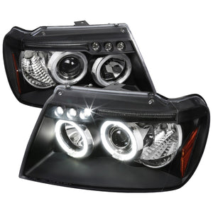 Spec-D Projector Headlights Jeep Grand Cherokee [Halo LED] (99-04) Black or Chrome
