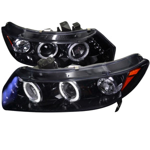 Spec-D Projector Headlights Honda Civic Coupe (06-11) Dual LED Halo - Black or Chrome