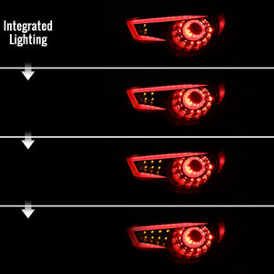 Spec-D Tail Lights Scion FRS / Subaru BRZ (13-16) Sequential - Pearl Black or Red