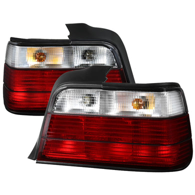 Spec-D Tail Lights BMW E36 Sedan & E36 M3 Sedan (1992-1998) Red Tint