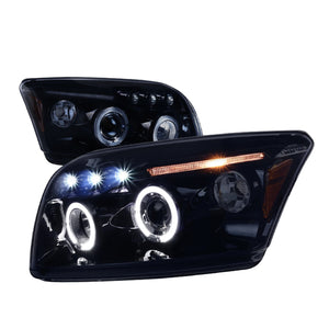Spec-D Projector Headlights Dodge Caliber [LED DRL] (2007-2012) Black / Chrome / Smoked