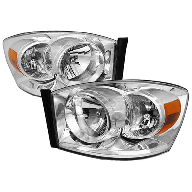 Spec-D OEM Replacement Headlights Dodge Ram 1500 (2006-2008) 2500/3500 (2006-2009) Clear / Black / Smoked