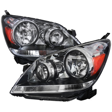 Spec-D OEM Replacement Headlights Honda Odyssey (2005-2006-2007) Black or Chrome