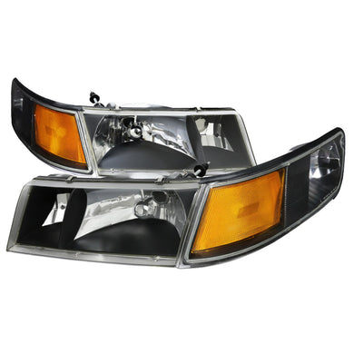 Spec-D OEM Replacement Headlights Mercury Grand Marquis (98-02) Black or Clear w/ Amber