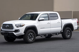 Armordillo Drop Side Steps Toyota Tacoma Double Cab (2005-2020) Matte Black - 7169418