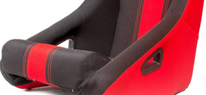 Cipher Auto Full Bucket Racing Seats (Black Fabric - Red Stripe) CPA1005FBK-RD