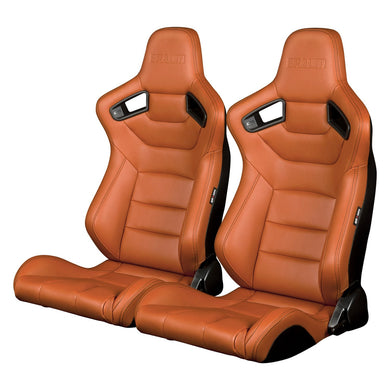 BRAUM Elite Sport Seats (Reclining - British Tan Leatherette) BRR1-BTBS