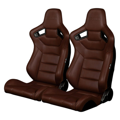 BRAUM Elite Sport Seats (Reclining - Brown Leatherette) BRR1-CPBS
