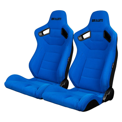 BRAUM Elite Sport Seats (Reclining - Blue Jacquard Suede Cloth) BRR1-UFBS
