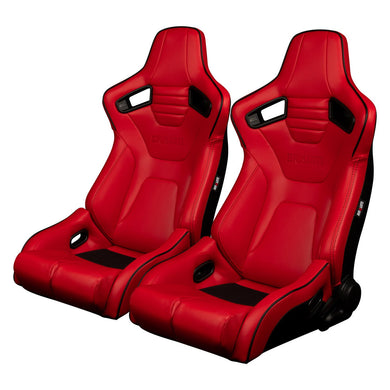 BRAUM Elite-R Racing Seats (Reclining - Red Leatherette) BRR1R-RDBP