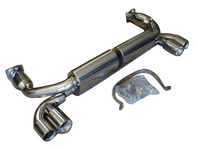 Top Speed Pro 1 Exhaust Porsche 991 996 Turbo (00-05) GT2 (02-05) Rear Section