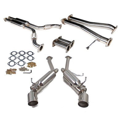 Rev9 Catback Exhaust Nissan 350Z (03-08) G35 Coupe RWD (03-06) Polished 4.5