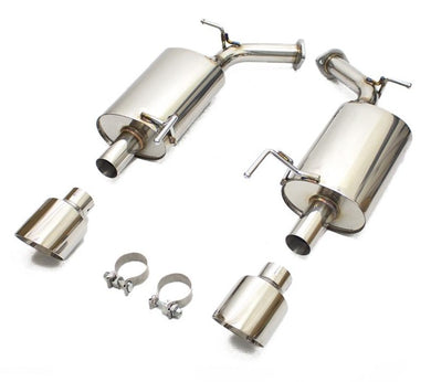 Rev9 Axleback Exhaust Infiniti M37 / M56 (2011-2012-2013) Dual Polished Mufflers