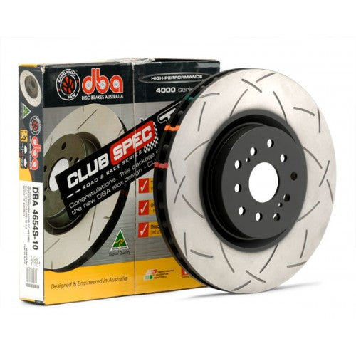 DBA 4000 T3 Slotted Brake Rotors Subaru Forester XT [Rear] (04-08) 4655S-10