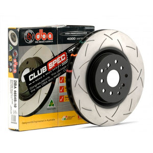 DBA 4000 T3 Slotted Brake Rotors Subaru Forester XT [Front] (04-08) 4654S-10