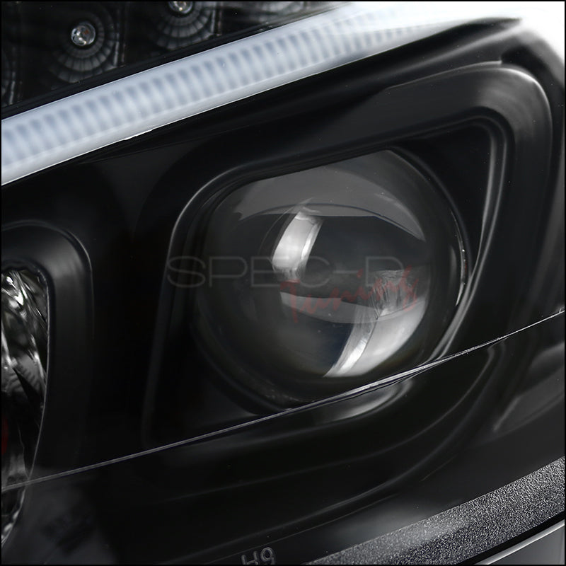 Spec-D Projector Headlights Mercedes C250/C300/C350 [LED DRL] (08-11) Black  or Chrome