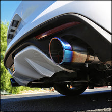 "Load image into Gallery viewer, Spec-D Tuning Exhaust Ford Mustang Ecoboost (15-18) 3"" Burnt Blue or Polished Tips"