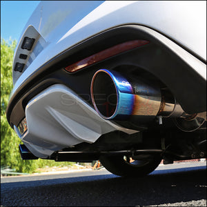 "Spec-D Tuning Exhaust Ford Mustang Ecoboost (15-18) 3"" Burnt Blue or Polished Tips"