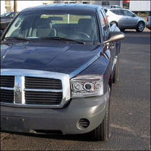 Load image into Gallery viewer, Spec-D Projector Headlights Dodge Dakota [Dual Halo] (05-07) Black or Chrome Housing