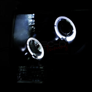 Spec-D Projector Headlights Ford F150 [Dual Halo LED] (09-14) Black or Chrome