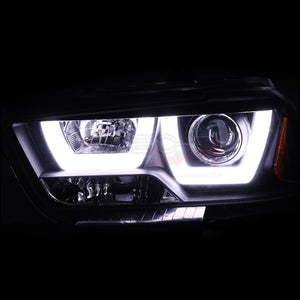 Spec-D Projector Headlights Dodge Charger [Halo LED] (2011-2014) Black or Chrome