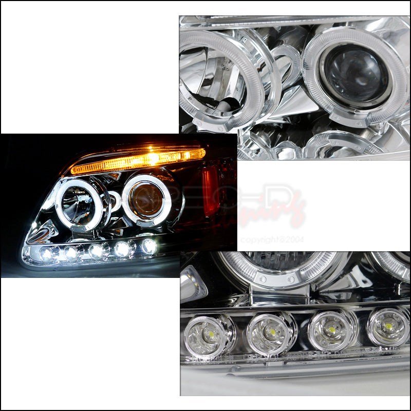 Spec D Projector Headlights Ford F150 97 03 Expedition 97 02 Halo Redline360
