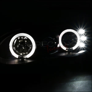 Spec-D Projector Headlights Chevy Camaro [Dual Halo LED] (98-02) Black Housing