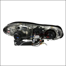 Load image into Gallery viewer, Spec-D Projector Headlights Chevy Camaro [Dual Halo LED] (98-02) Black Housing