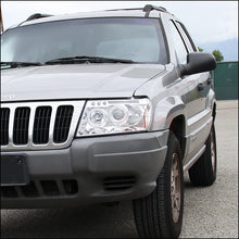 Load image into Gallery viewer, Spec-D Projector Headlights Jeep Grand Cherokee [Halo LED] (99-04) Black or Chrome