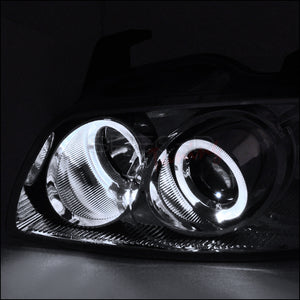 Spec-D Projector Headlights Nissan Sentra [Dual Halo] (2004-2005-2006) Black or Chrome
