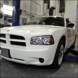 Spec-D Projector Headlights Dodge Charger [Dual Halo] (05-10) Black or Chrome Housing