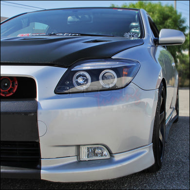 Spec-D Projector Headlights Scion tC [Dual Halo] (2005-2010) Black / Chrome / Smoke