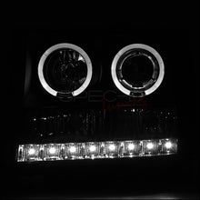 Load image into Gallery viewer, Spec-D Projector Headlights GMC Sierra [Dual Halo] (07-13) Black Housing