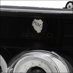 Spec-D Projector Headlights Ford F150 / F250 / F350 / Bronco [Dual Halo] (92-96) Black Housing