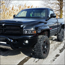 Load image into Gallery viewer, Spec-D Projector Headlights Dodge Ram [Dual Halo] (94-01) Black or Chrome Housing